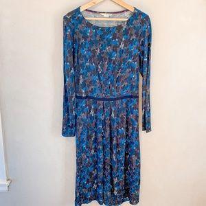 Boden Thea Knit Dress Blue Floral